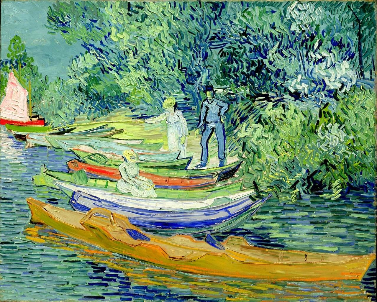Bank of the Oise at Auvers,1890, Vincent van Gogh